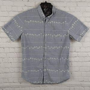 Billabong Tailored Fit Men Button Down Shirt Sz L